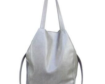 Austraalia soft gray leather bag -