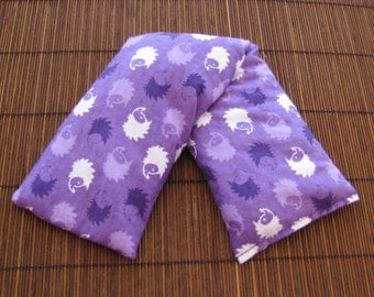 Cherry Pit Heating Pad Microwaveable - Hedgehog Purple