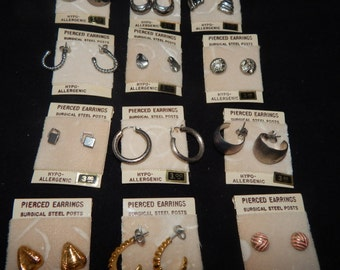 Silver and Gold Colored Earring Sets