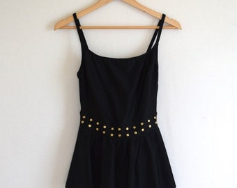 SALE 20% OFF- 90s Deadstock Studded Bathing Suit/ La Blanca Skirted Swimsuit/ One Piece Malliot/ Women's Size Medium
