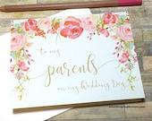 Meine Eltern auf meine Hochzeit Tag - Hochzeit-Dankeschön-Karte für die Eltern - Jahrgang Mama und Papa - Hochzeit-Tageskarte für Mutter-Vater - Erbstück
