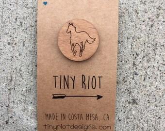 Deftones White Pony Wooden Lapel Pin
