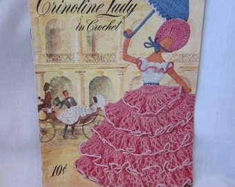 Vintage Crochet Patterns Crinoline Lady. PDF DOWNLOAD. 1949 Home Decorating Patterns for the Home. Full Color Photos with Instructions.