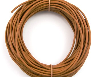 Mustard Natural Dye Round Leather Cord 2mm 10 meters (11 yards)