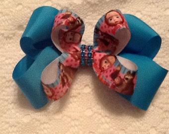 Handmade Turquoise Marsha & Bear Hair Bow