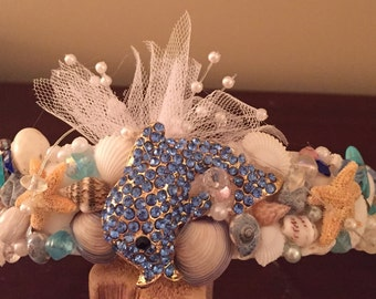 Xo bouquets dolphin headband seashell mermaid crown