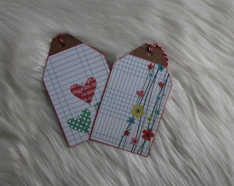 Grid Gift Tag Set