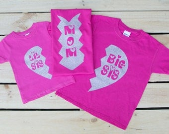 Big Sister Little Sister Outfits - Matching Brother Outfits - Matching Sister Shirts - Little Brother Big Sister Shirts - Family Shirts