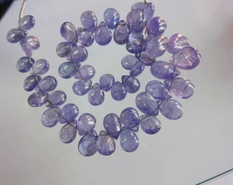 Natural Tanzanite smooth plain pear shape size 7.5-11.5mm sold per 8-inch strand GW1101
