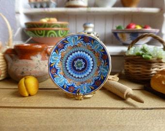 Geometric Italian Style Dollhouse Plate