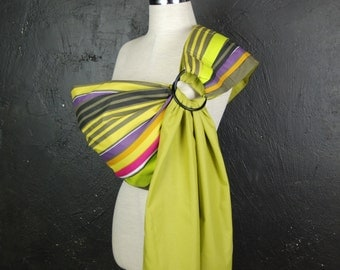Ring Sling Carrier/Baby Sling Ring/Baby Sling/Reversible Baby Sling/Baby Gift/Multicolored Stripes sling