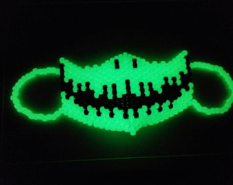 Glow jack skeleton skellington kandi rave mask