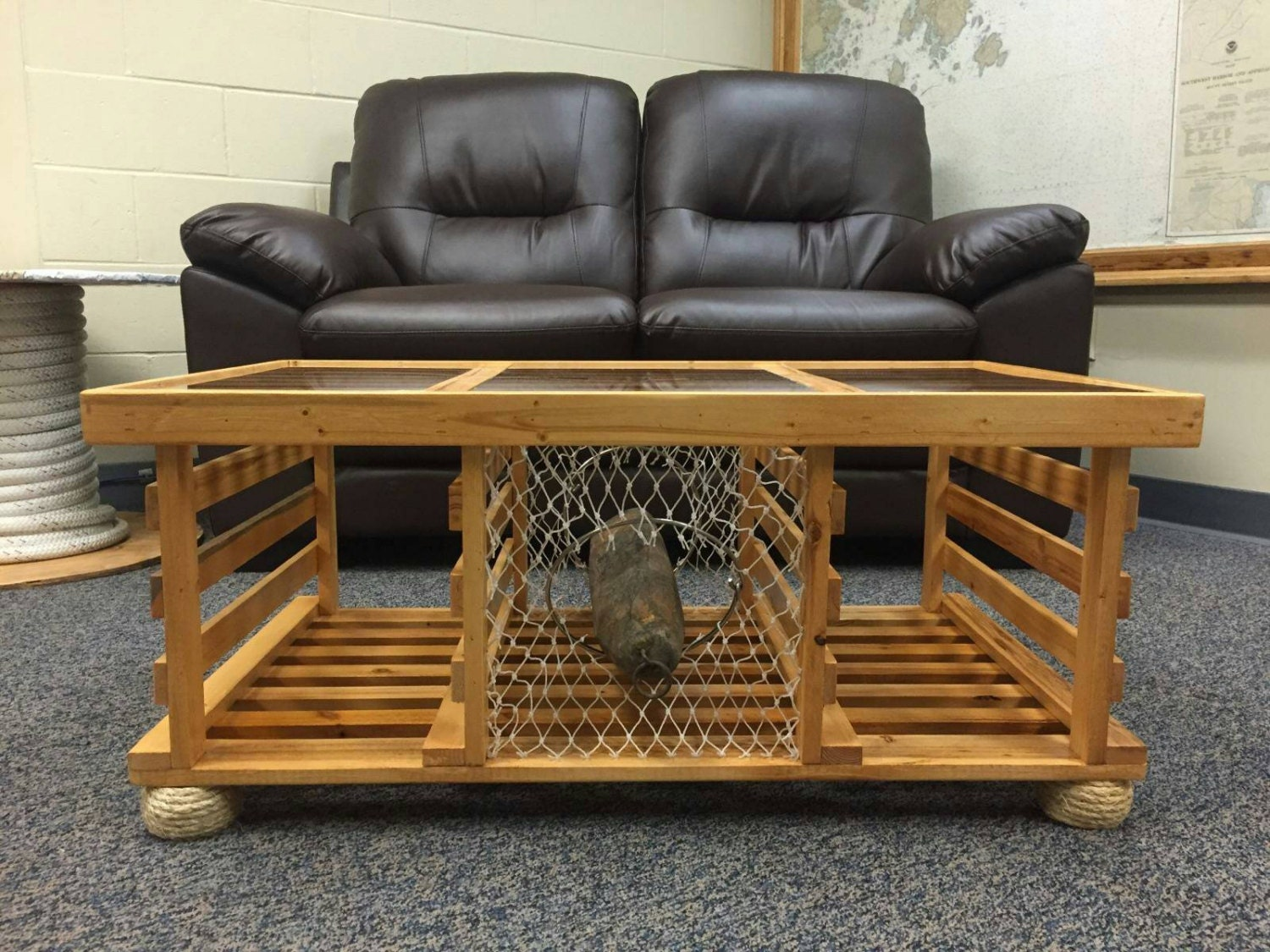 Custom CHALLENGE COIN Lobster Trap Table
