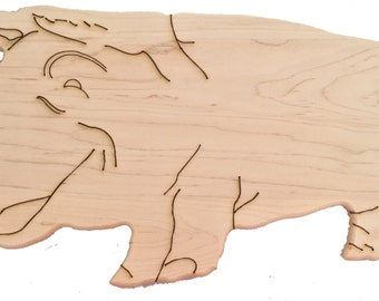 Pig Shaped Cutting board, Serving Tray