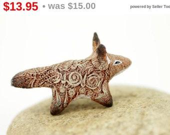 Discount! Baby Fennec Fox Totem Figurine Sculpture, Animal magic spirit amulet