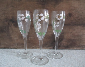 Perrier Jouet Belle Epoque' Champagne Glass Trio/Wedding/Bridal