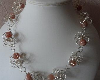 Silver Sunstone Necklace