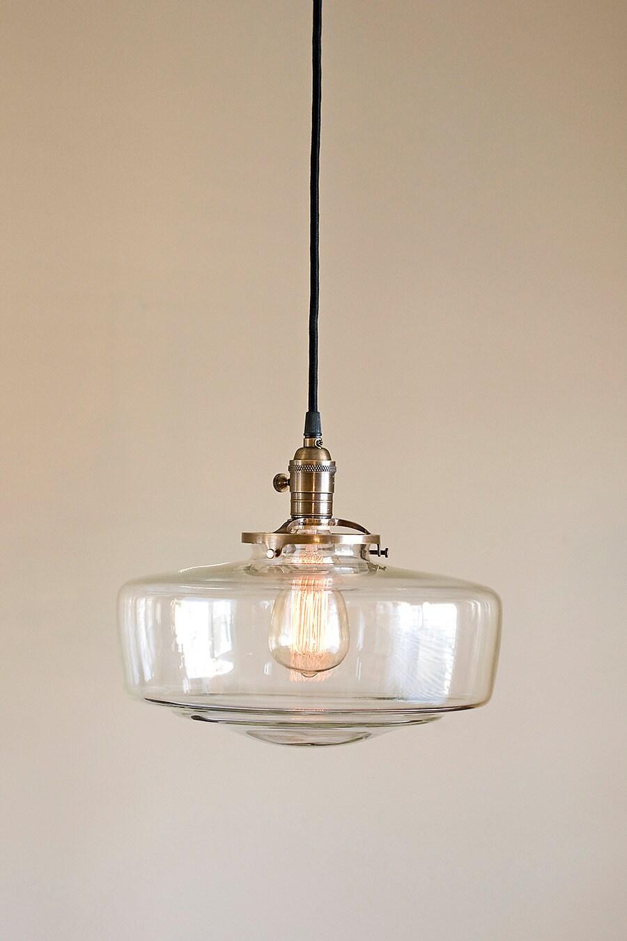 glass schoolhouse light fixture pendant
