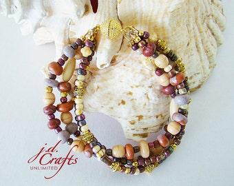 Beaded Bracelet, mauve bracelet, handmade bracelet, beaded bracelets, boho bracelet