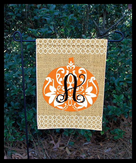 Fall Garden Flag Fall Decor Personalized Monogrammed Custom