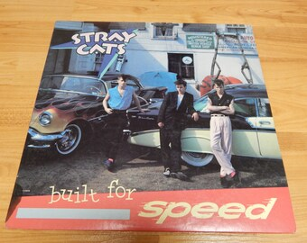 Stray Cats built for speed vinyl record lp 1982 rock n roll Brian Setzer