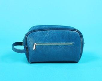 Small Wristlet Blue Samsonite Travel Toiletry Makeup Handbag