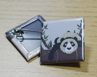 25mm Square Panda Pin