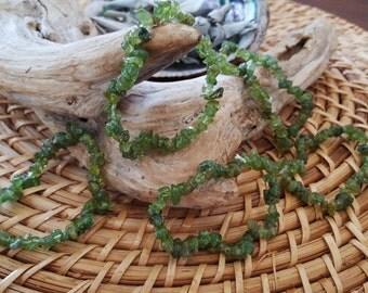 Peridot stretchy bracelet ~ 1 Reiki infused crystal chip bracelet
