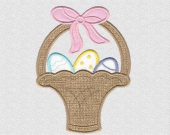 Easter Basket Machine Applique Design