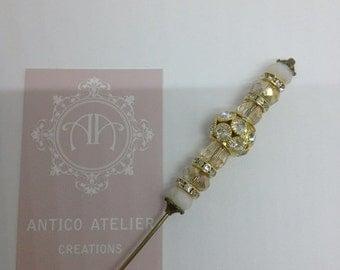 PIN FOR HATS, for hair, Rococò, Marie Antoinette, Venetian Carnival,