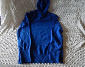 Beautiful Blue Vintage Cashmere Turtleneck  Sweater size M