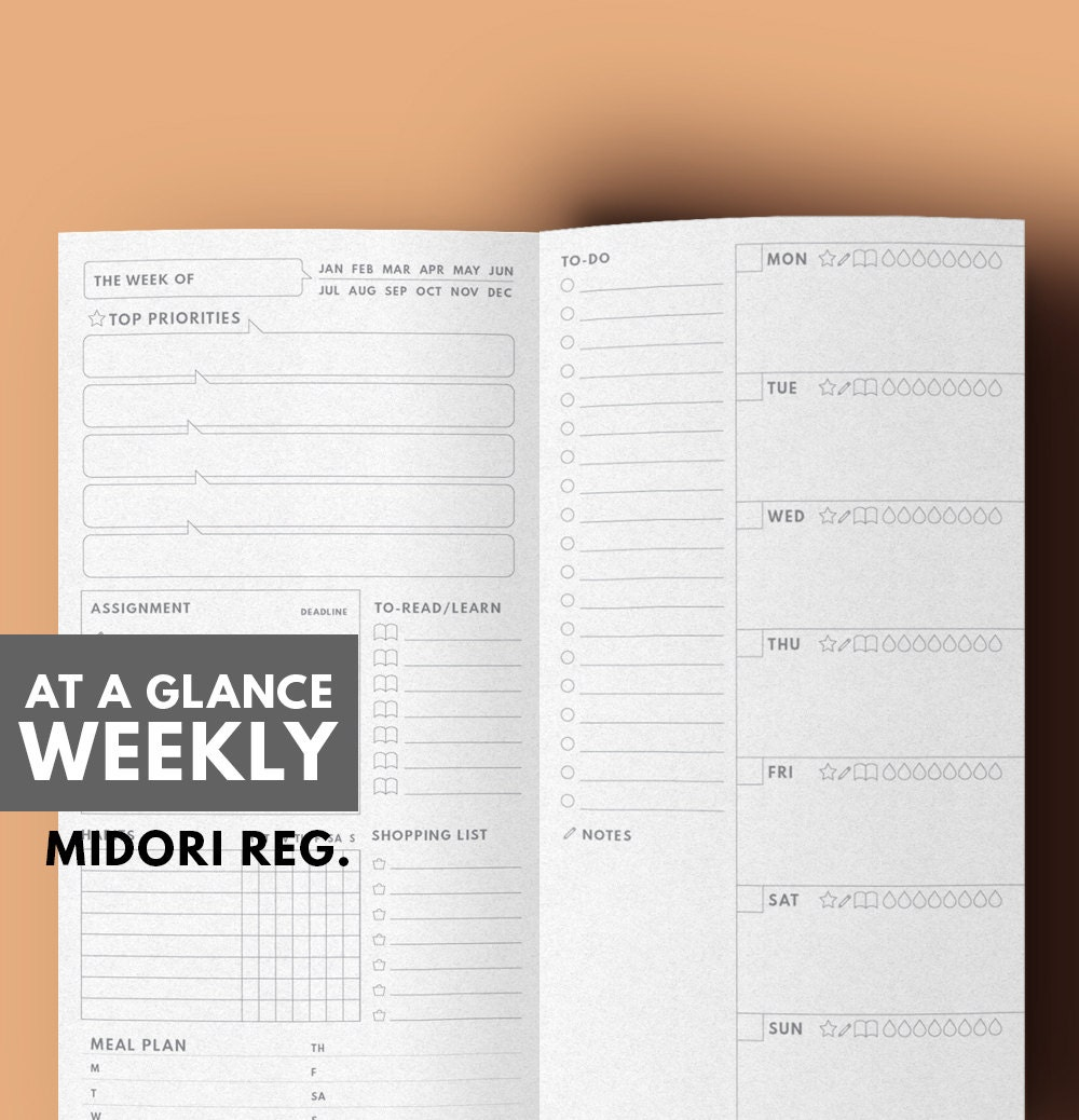 This is a graphic of Breathtaking Midori Insert Printable