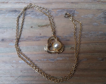 vintage Damascene pendant and chain