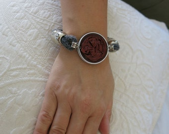 Bracelet silk and recycled Nespresso capsule