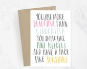 Bridesmaid Movie Quote Hand Lettered Greeting Card | Gift Idea | Kristen Wiig | Funny Card | Friendship Card