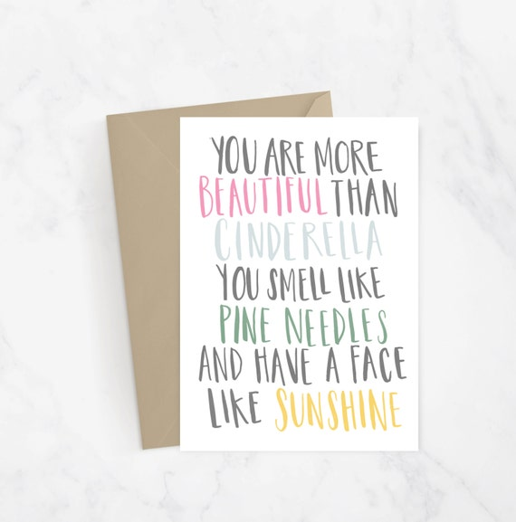 Bridesmaid Movie Quote Hand Lettered Greeting Card Gift Idea
