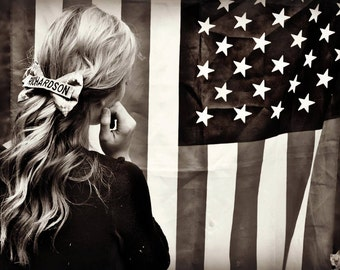 Hair Bow in Army, Marines & Air Force