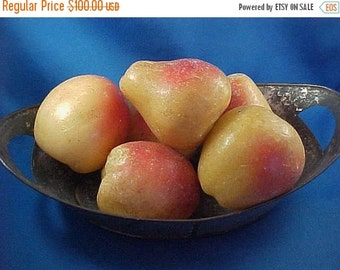 SALE Antique Victorian Wax Fruit, Old and Muted Colors, Primitive