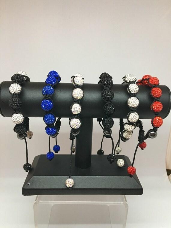Austrian Crystal Woven Macrame Eternity ~ Mala Prayer Bracelet