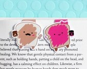 Peanut Butter and Jelly Magnetic Bookmarks (Mini 2 Pack)