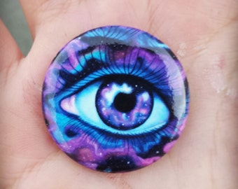 Stardust Galaxy Eye Pinback Button