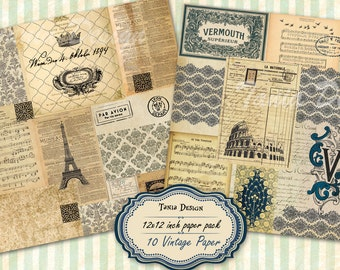 Old travel paper, scrapbook paper, decoupage paper, vintage backgrounds, distressed paper,antique paper
