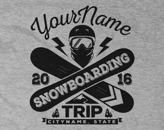 Custom Snowboarding Trip Shirts 2017
