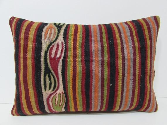 16x24 kilim lumbar pillow floor lumbar pillow long lumbar