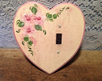 Wood Heart Light Switch Cover