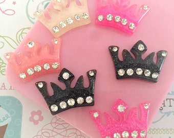 24mm  Studded Crowns Resin Cabochon 5 pcs