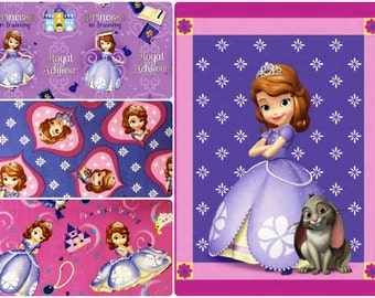 Sofia the First Princess in Training Cotton Fabric by Springs Creative! [Choose Your Cut Size]