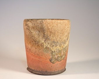 Wood Fired Ceramic Juice Cup // Handmade Pottery