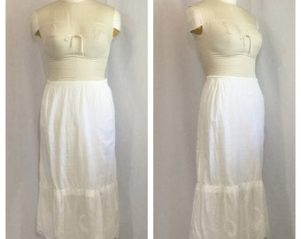 Vintage 1910's Antique Underskirt with Embroidered Detail