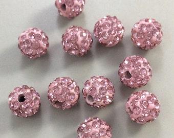20 pcs  x8 mm  Shamballa Beads, Shamballa Jewelry ,Disco Balls, Premium Czech Crystal, beads, Findings